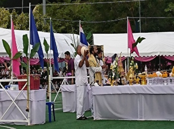 The ceremony respecting to the Queen Sunandha