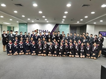 Airline Business students internship with Thai Airways International Orientation Day 2019
