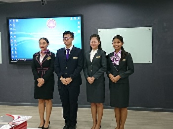 Airline Business students of International College, Suan Sunandha Rajabhat University received the best activities attending awards