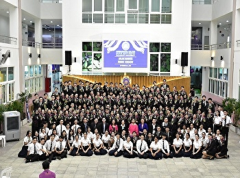 Airline Business Department, International College, Suan Sunandha Rajabhat University congratulated the third year students with  the Airline Pinning ceremony 2020