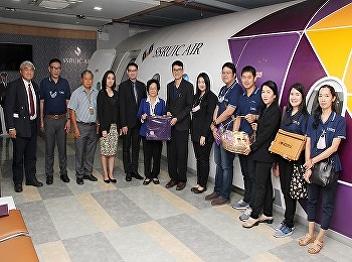 International College, Suan Sunandha Rajabhat University welcomed the Rambhai Barni Rajabhat University visiting